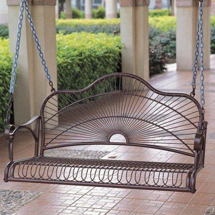 Iron Patio Porch Swing