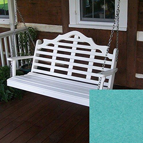 A&L Furniture Co Marlboro Recycled Plastic Porch Swing 4 Foot Aruba
