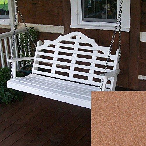 A&L Furniture Co Marlboro Recycled Plastic Porch Swing 4 Foot Cedar