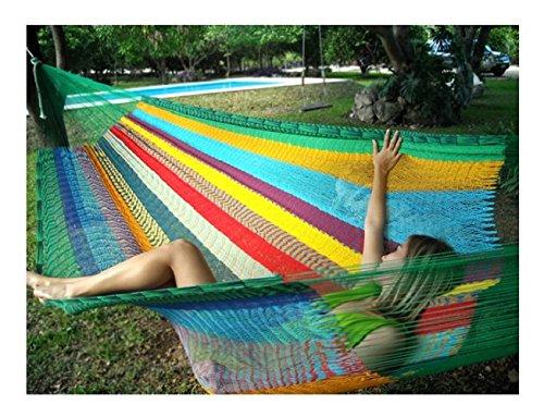 Hammocks Rada- Handmade Yucatan Hammock - Matrimonial Size Tropical Multicolor - True Comfort True Quality Worlds
