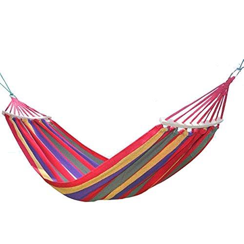 PowerLead Phkc K002 Hammock Cotton Fabric Travel Camping Hammock 2 Person 450lbs for Hammock Chair Bed Outdoor Bedroom Indoor