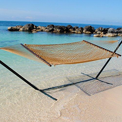Caribbean Rope Hammock In Tan