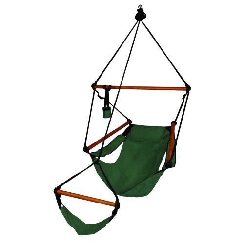 Hammaka Hanging Hammock Air Chair Wooden Dowels Green