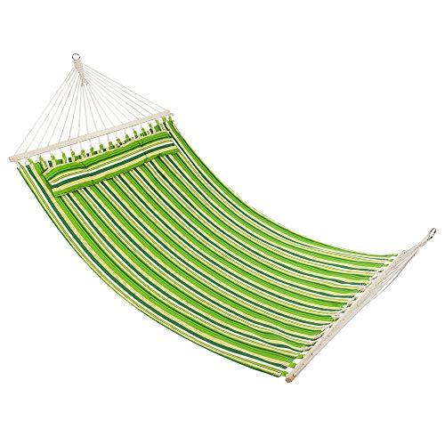 Alwaysprekit Stylish Printing Style Camping - Double Portable Hammock Chairs Comfortable Lightweight Hammock Beach Swing Beds 300 Ib Capacity for Outdoor HikingBackyard Green