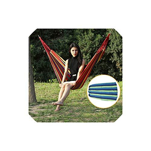 Hammock Chair 28080Cm Portable Hammock Double Person Rainbow Outdoor Leisure Canvas Camping Hammocks Garden Swing Hanging Chair Sleeping BedRed