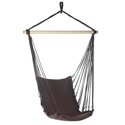 Summerfield Terrace Hanging Chair Portable Hammock Chair Rope Outdoor Cotton Hammock Swing Chair