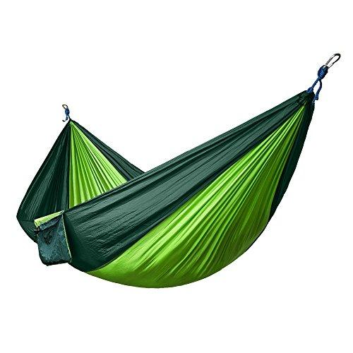 Camping Hammocks Nylon Fabric Folding Portable Paraachute Camping Hammock for Outdoor Garden Travel Camping Hiking Tree Swing Sleeping Bed