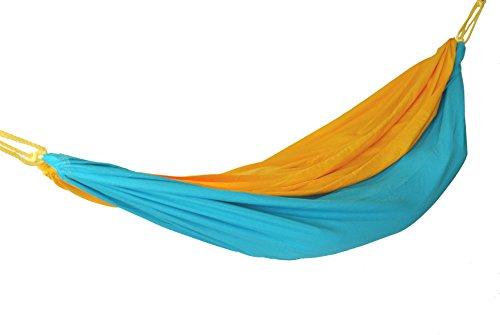 Color Cloud Hammocks Double Travel Hammock YellowBlue
