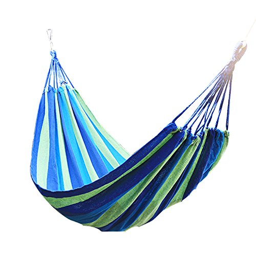 Double Wide Hammock Cotton Soft Woven Bed For Supreme Comfort Fabric Travel Camping Hammock 2 Person For Backyard