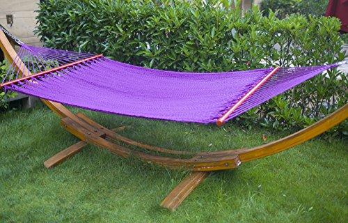 Arc Hammock Stand with Cotton Hammock Outdoor Garden Patio Color 2