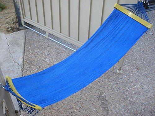 Indooroutdoor Kids Hammock Swing Bed 48 Long Blue Color for Kid Under 4 Feet Tall