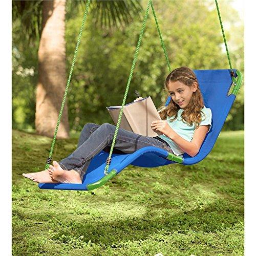 Polypropylene Kids Chair Hammock 200 Pounds Weight Capacity - Blue