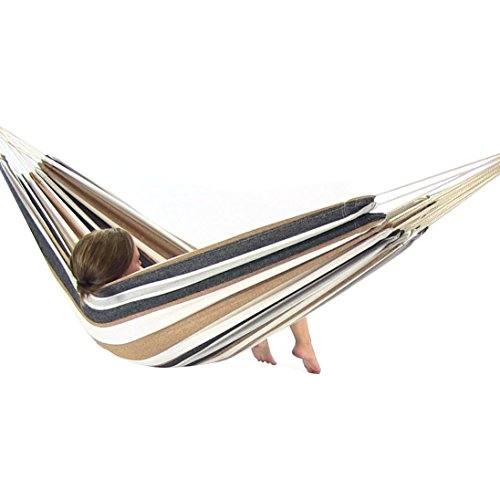 Sunnydaze Brazilian Double Hammock - 2-person Portable For Camping Indoor Or Outdoor Use Calming Desert