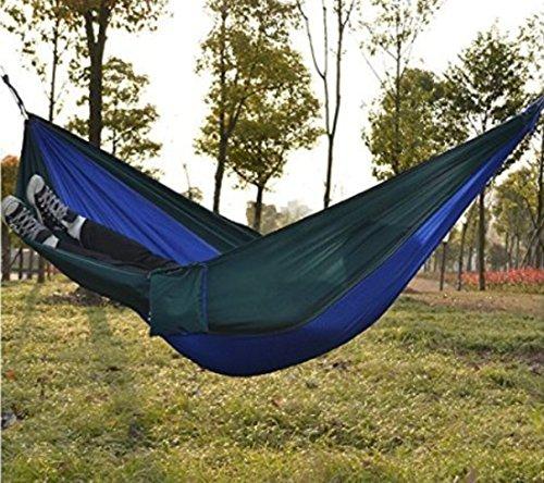 Kansoon Double Parachute Camping Hammock Ultralight Portable Nylon Fabric Travel Hiking Camping Hammock Ropes