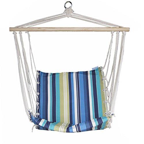 Prime Garden Beaches Stripe Cushioned Single Hammock Swing