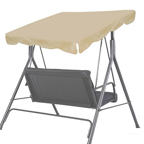 New Patio Outdoor 65x45 Swing Canopy Replacement Porch Top Cover Seat Furniture Beige
