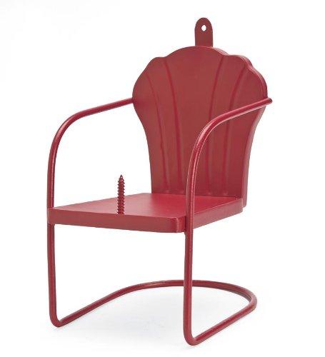 Red Retro Lawn Chair Squirrel Feeder