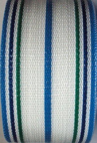 Webbingprotm White Stripe Lawn Chair Webbing 3 Inches Wide 100 Feet Long Roll