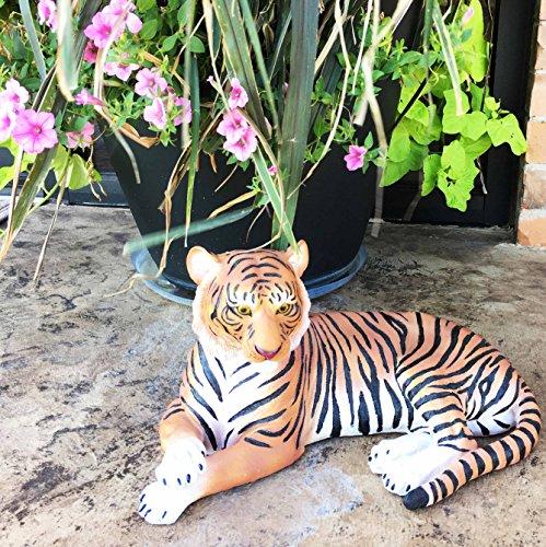 Large Raja The Royal Bengal Tiger Resting Gracefully 155 Long Statue Jungle Apex Predator Home Garden Outdoor Patio Decor Figurine