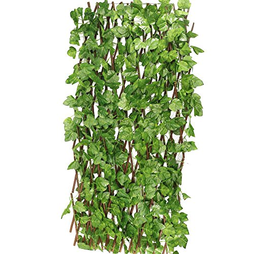 World Pride 82ft x 26ft Artificial Ivy Leaves Trellises Hedge Fencing Faux Leaves Panels Privacy Screen Outdoor Patio Decor