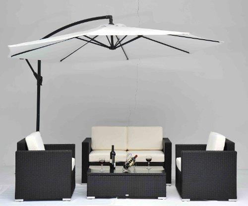 Outdoor Rattan Set 4 Pcs Sofa Wicker Sectional Garden Patio Furniture BroyerK