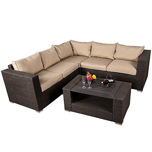 Sundale Outdoor Deluxe 4-piece Wicker Garden Patio Furniture Sofa Set