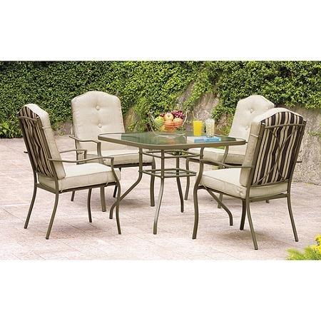 Patio 5 Piece Outdoor Furniture Dining Set