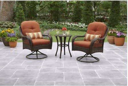Patio Furniture-Patio Furniture SetsÂ-Azalea Ridge 3-Piece Outdoor Bistro Set-Seats 2-Create an island oasis on your porch or patio with this patio furniture dining set-Guaranteed