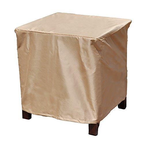 Budge Chelsea Square Patio Table Cover  Ottoman Cover Small tan