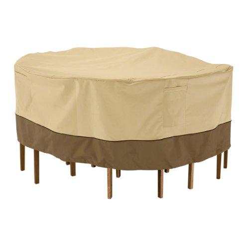 Classic Accessories 71912 Veranda Round Patio Tableamp Chair Set Cover Small