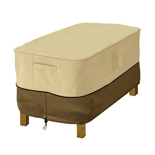 Classic Accessories 71992 Veranda Rectangular Patio Ottomanside Table Cover Small