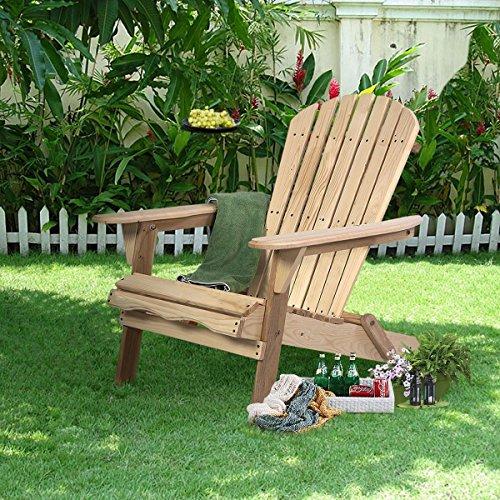 Outdoor Garden Foldable Fir Wood Adirondack Chair Patio Deck Furniture US Stock from_villagehead_55281977488372