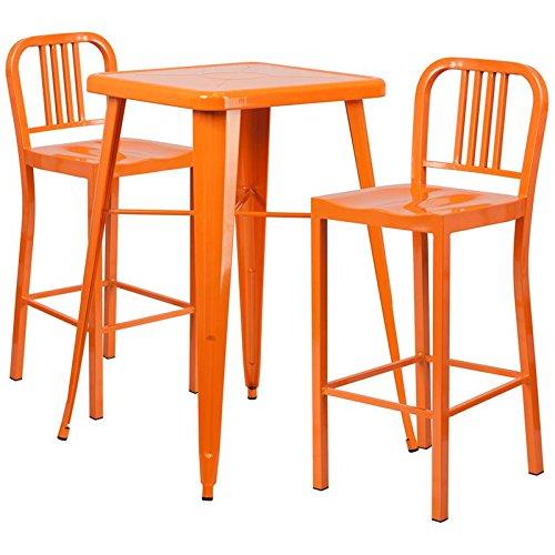 Indoor-Outdoor Table Set Orange