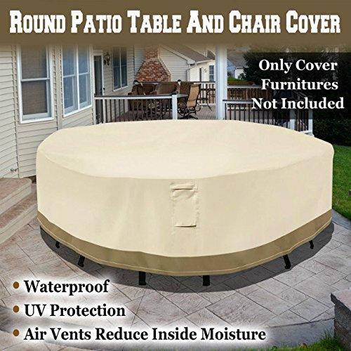BenefitUSA Round Patio TableChair Cover Garden Outdoor Furniture Cover Winter Protect