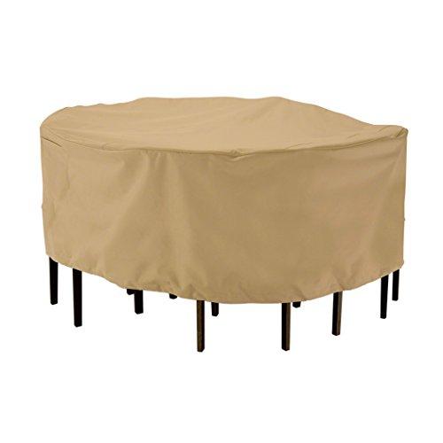 Classic Accessories 58212-ec Terrazzo Round Patio Tableamp Chair Set Cover Medium