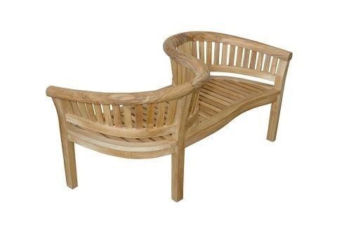 Anderson Teak Patio Lawn Garden Furniture Curve Love Seat 59W 28D 32H