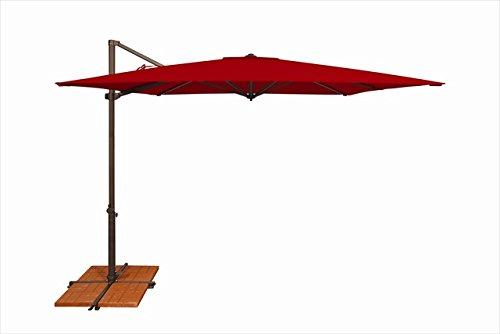 SimplyShade SSAG5A-86SQ00-A5403 Skye Series Cantilever Patio Umbrella Jockey Red Large