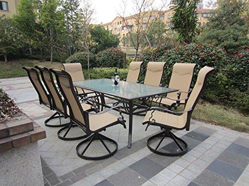 10pc Cast Aluminum Patio Furniture Set With Cover - Bronze