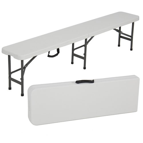 Best Choiceproducts Folding Portable Plastic Indooroutdoor Picnic Party Dining Bench 6