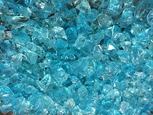 Teal Lagoon Crushed Fire Glass 12-34 Firepit Glass 10 Pounds