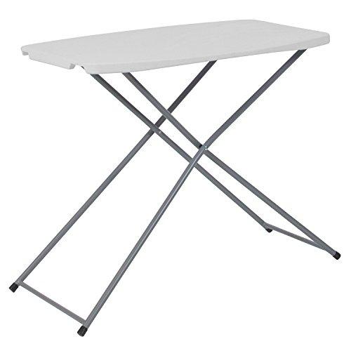 Flash Furniture 1875W x 29L Height Adjustable Granite White Plastic Folding Table -