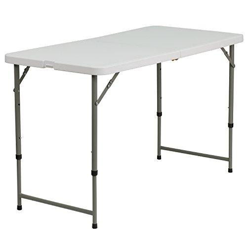 Flash Furniture Plastic Folding Table 24 W x 48 L Height Adjustable