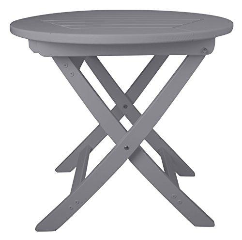 Esschert Design Round Foldable Table Gray