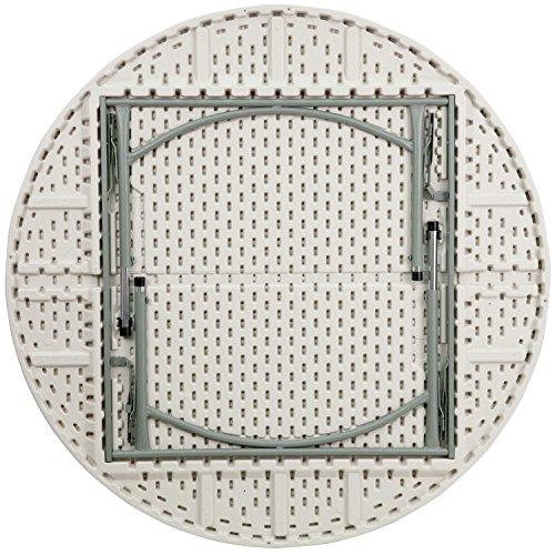 Flash Furniture 60&quot Round Height Adjustable Granite White Plastic Folding Table