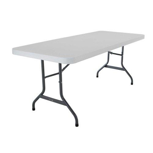 Lifetime 22901 Folding Utility Table 6 Feet White Granite