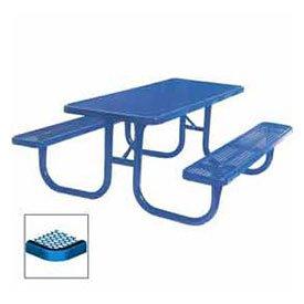 8 Extra Heavy Duty Picnic Table Diamond 96W X 70D Blue