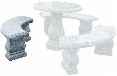 Nva Creative Garden Granite 5519000 Venice Bench Curved