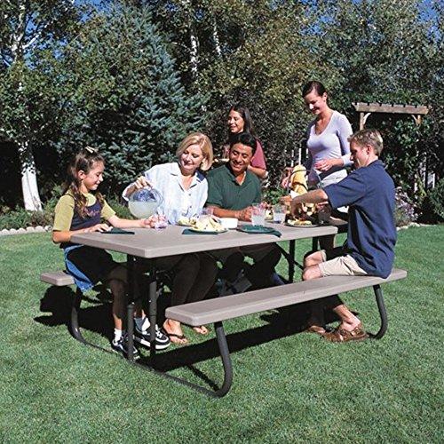 Lifetime 22119 Folding Picnic Table 6 Feet Putty