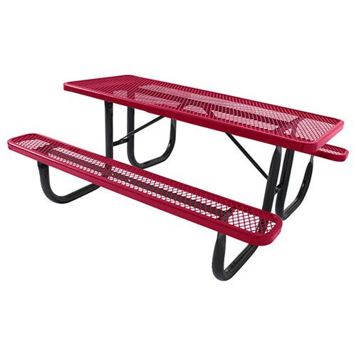 ultraPLAY 6 Steel Picnic Table Red