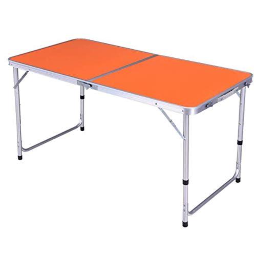 JINPENGRAN Portable Outdoor Foldable Picnic Table Lightweight Portable Folding TableLifting Table Folding TableOrange